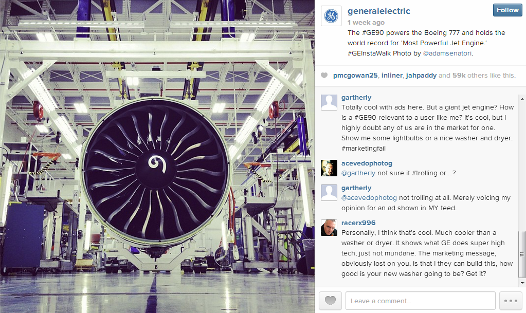 General Electric's first Instagram ad
